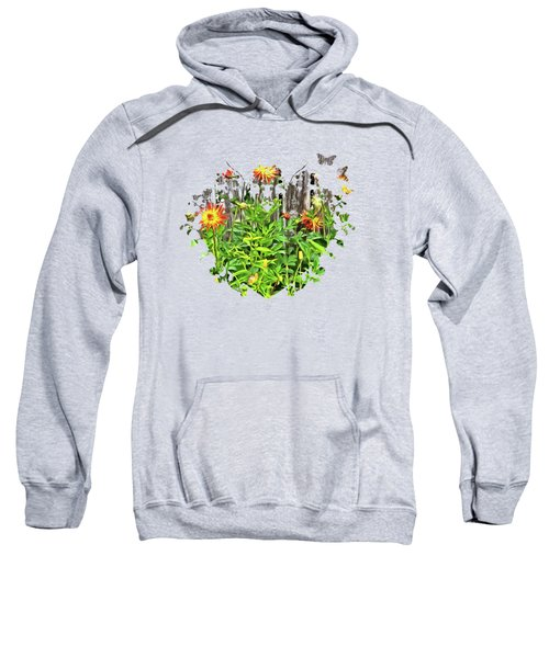 The Flowers Along The Fence  Sweatshirt by Thom Zehrfeld