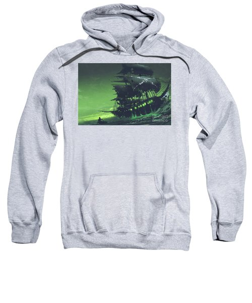 Sweatshirt featuring the painting The Flying Dutchman by Tithi Luadthong