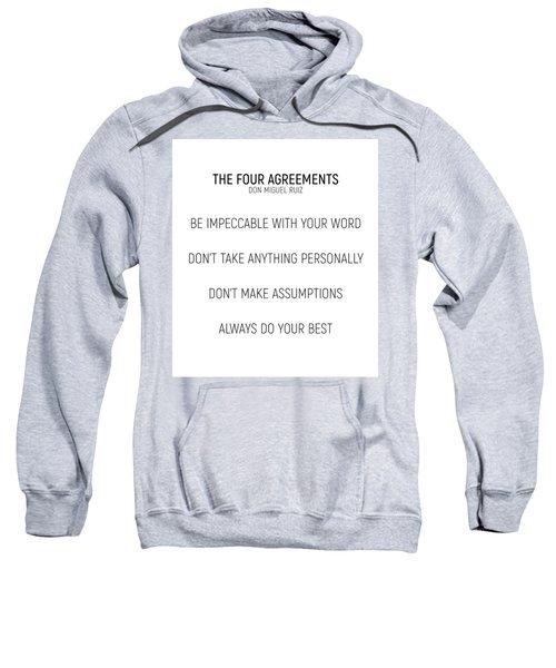 The Four Agreements #minismalism #shortversion Sweatshirt