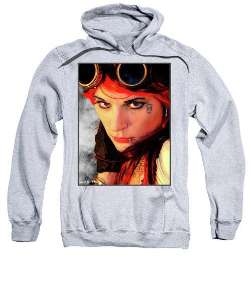 The Gaze Of Steam Punk Vixen Sweatshirt