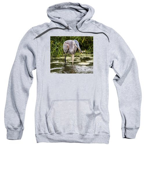 Sweatshirt featuring the photograph The Great Blue Heron by Ricky L Jones