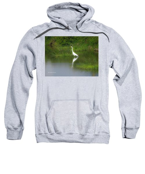 Great Egret By The Waters Edge Sweatshirt