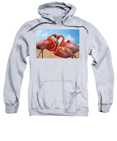 The Heart Of The Flamingos Sweatshirt