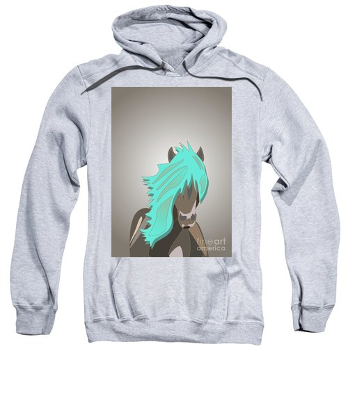 The Horse With The Turquoise Mane Sweatshirt