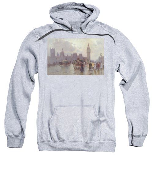 The Houses Of Parliament From Westminster Bridge Sweatshirt