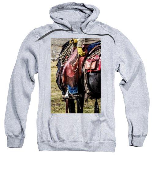The Idaho Cowboy Western Art By Kaylyn Franks Sweatshirt