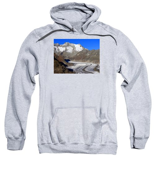 The Large Aletsch Glacier In Switzerland Sweatshirt