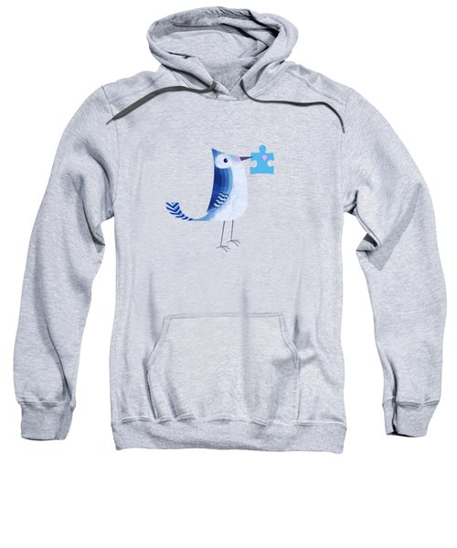 The Letter Blue J Sweatshirt by Valerie Drake Lesiak