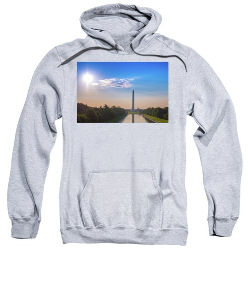 The Mall, Sky, Sun And Clouds Sweatshirt
