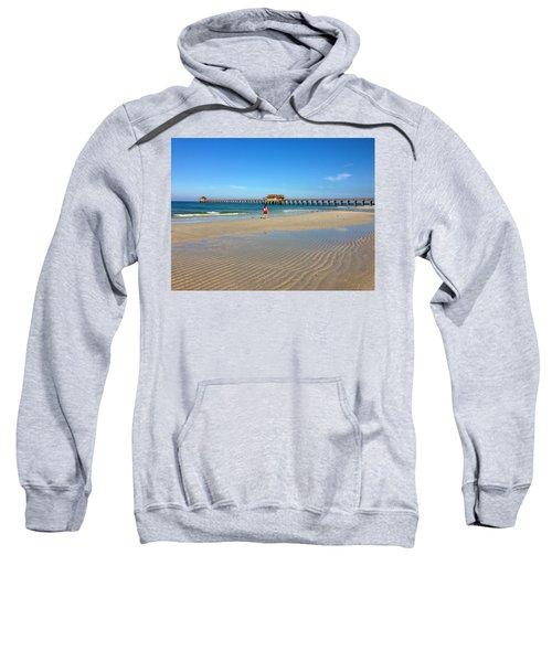 The Naples Pier At Low Tide Sweatshirt
