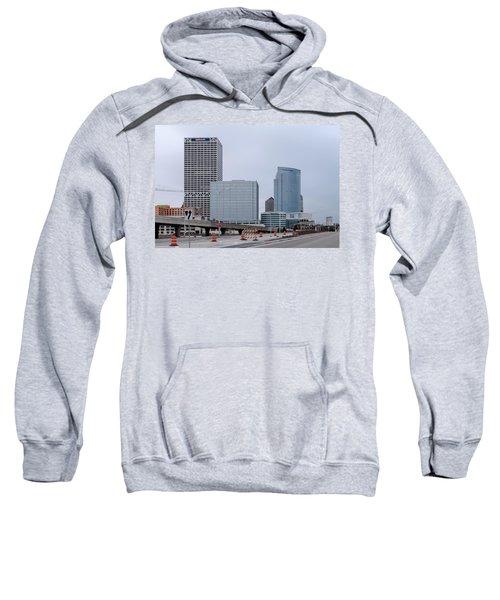 Sweatshirt featuring the photograph The New Milwaukee Skyline by Randy Scherkenbach