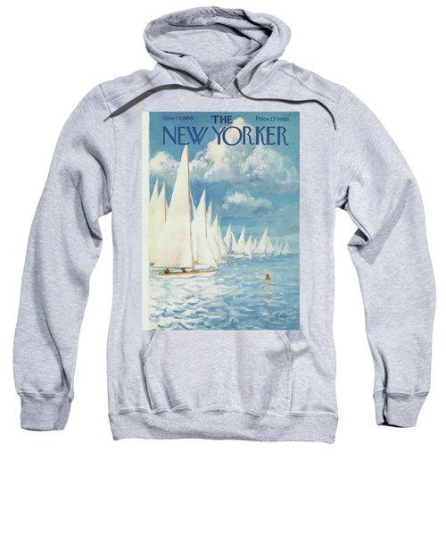 New Yorker Cover - June 13th, 1959 Sweatshirt