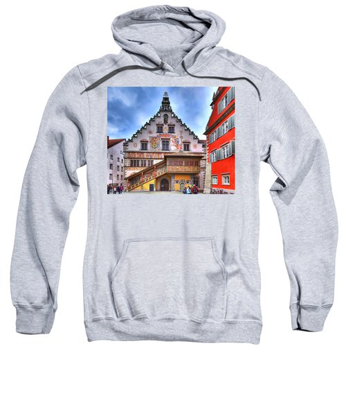 the old townhall on the island of Lindau at the Lake Constance Sweatshirt