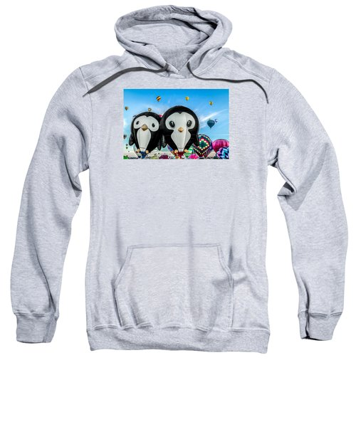 Puddles And Splash - The Penguin Hot Air Balloons Sweatshirt