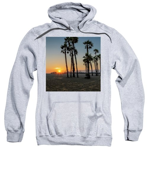 The Pier At Sunset - Square Sweatshirt