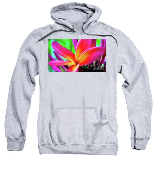 The Plumeria Flower Sweatshirt