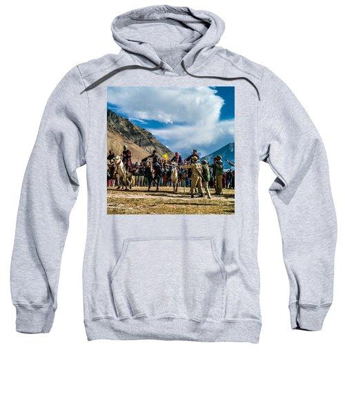 The Race, Zanskar, India Sweatshirt