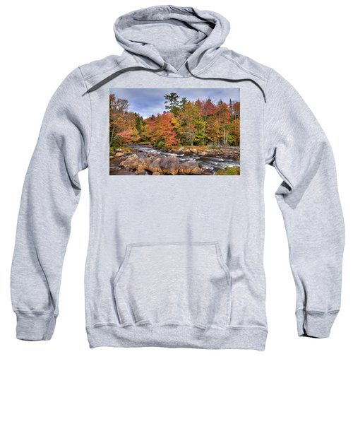 Sweatshirt featuring the photograph The Rapids On The Moose River by David Patterson