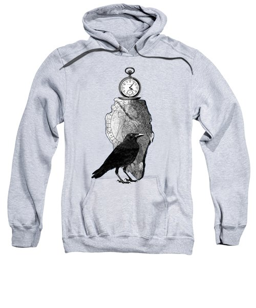 The Raven, The Pocket Watch, And The Runestone Sweatshirt