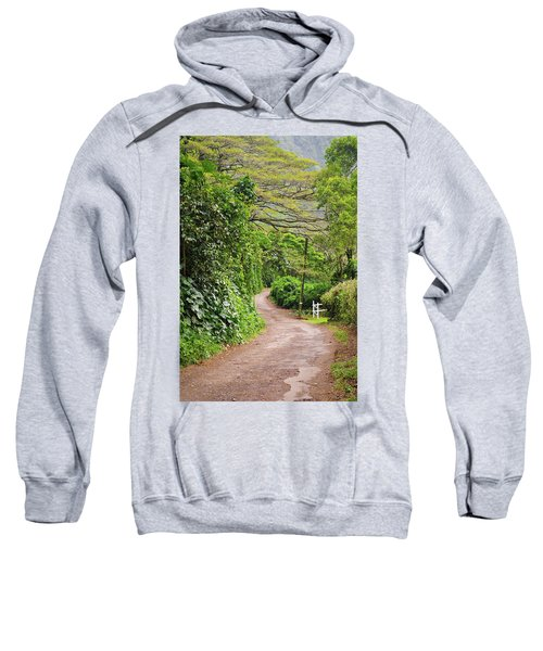 The Road Less Traveled-waipio Valley Hawaii Sweatshirt