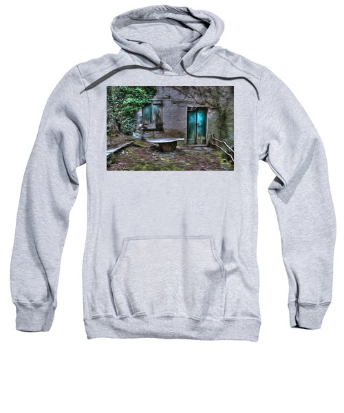 The Round Table House In The Abandoned Village Of The Ligurian Mountains High Way Sweatshirt