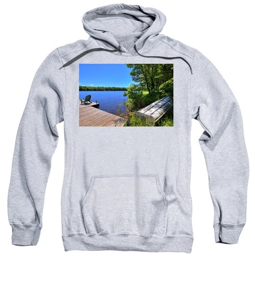 Sweatshirt featuring the photograph The Rowboat On West Lake by David Patterson