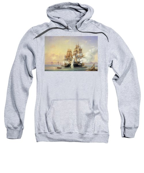 The Russian Cutter Mercury Captures The Swedish Frigate Venus On 21st May 1789 Sweatshirt