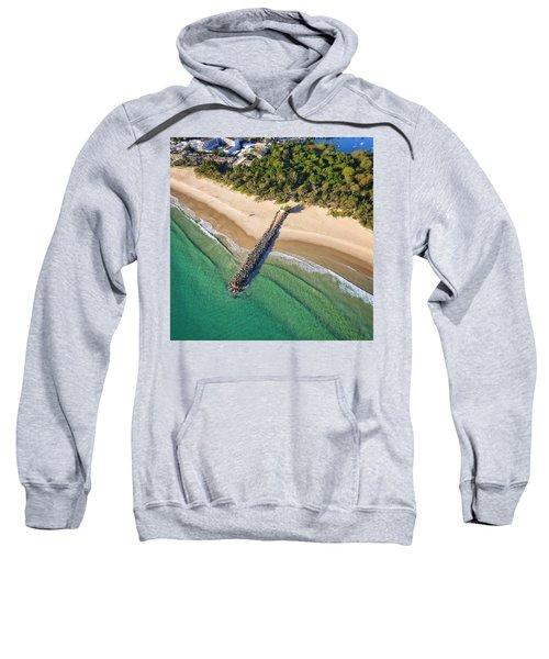 The Sea Wall Near Noosa Main Beach Sweatshirt