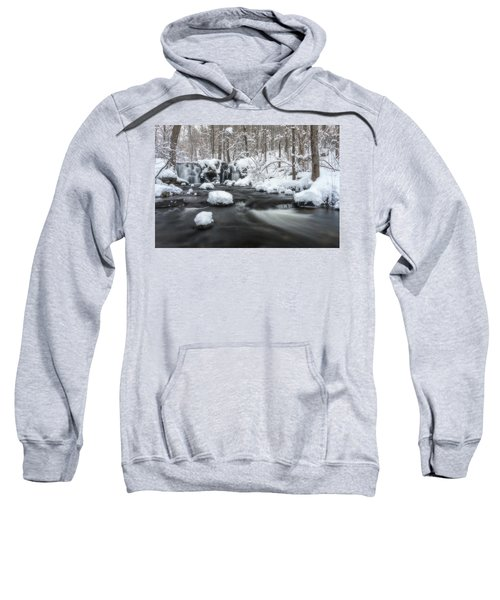 The Secret Waterfall In Winter 2 Sweatshirt