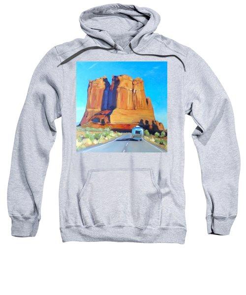 The Shadow Of The Three Gossips Arches Utah Sweatshirt