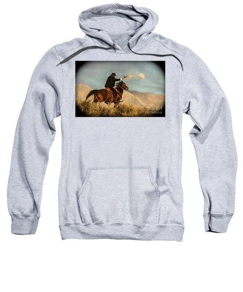 The Sharp Shooter Western Art By Kaylyn Franks Sweatshirt