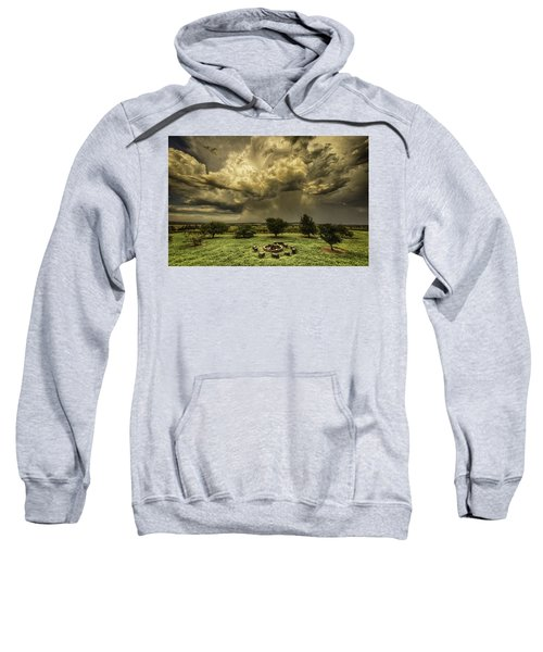 Sweatshirt featuring the photograph The Storm by Chris Cousins