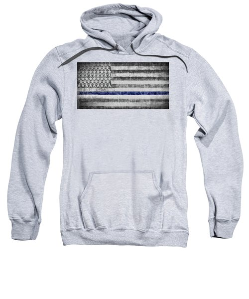 The Thin Blue Line American Flag Sweatshirt