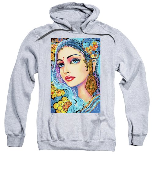 Sweatshirt featuring the painting The Veil Of Aish by Eva Campbell