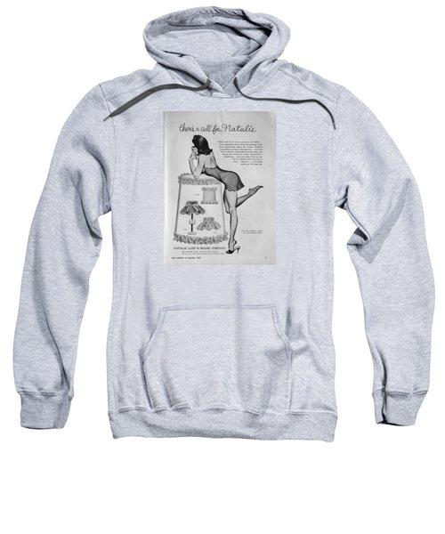 Sweatshirt featuring the digital art there's a Call for...Natalie by Reinvintaged