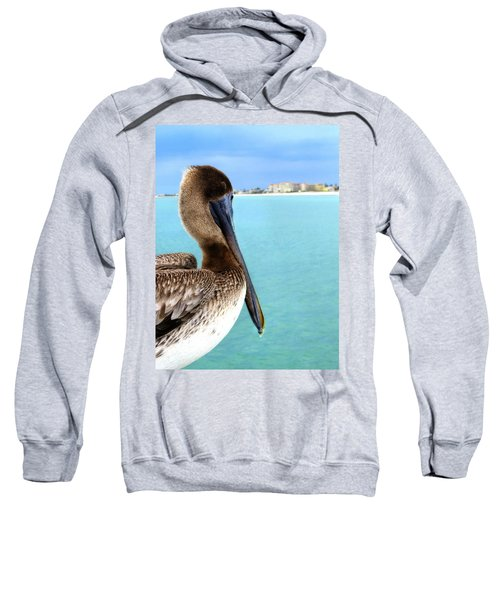This Is My Town - Pelican At Clearwater Beach Florida  Sweatshirt