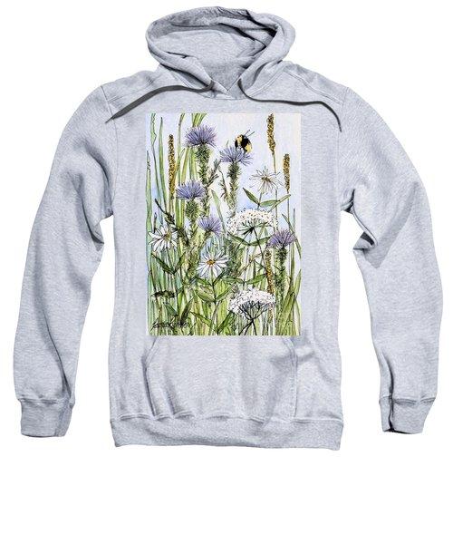 Thistles Daisies And Wildflowers Sweatshirt