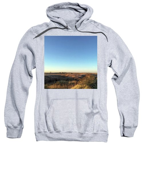 Thornham Marsh Lit By The Setting Sun Sweatshirt