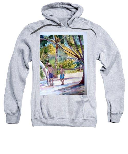 Three Boys Climbing Sweatshirt