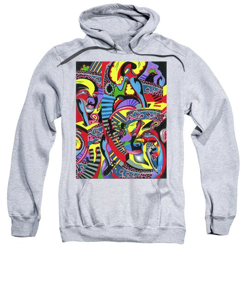 Three Disguises Of An Abstract Thought Sweatshirt