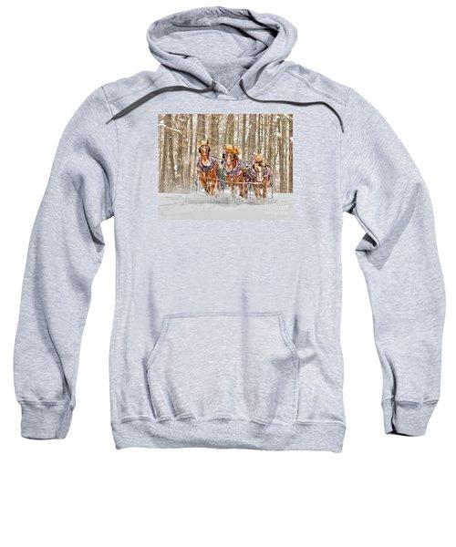 Three Horses Running Sweatshirt