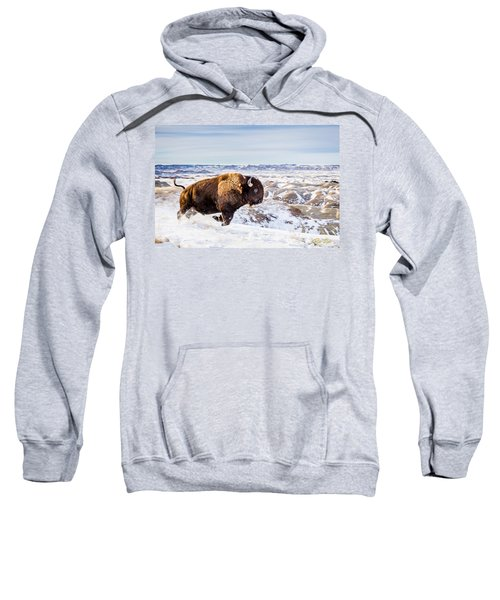 Thunder In The Snow Sweatshirt by Rikk Flohr