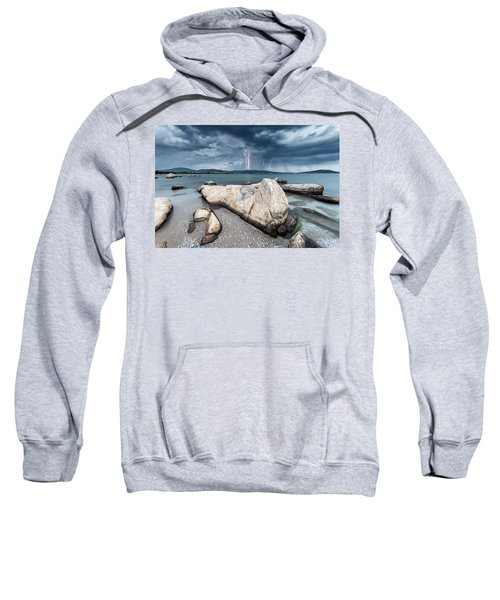 Sweatshirt featuring the photograph Thunderstorm  by Evgeni Dinev
