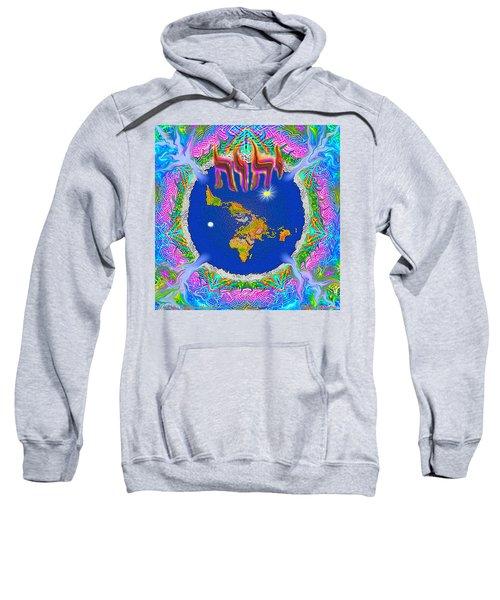 Y H W H Creation Mandala Flat Earth Sweatshirt
