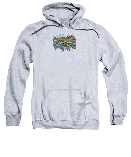 Tides Out At Seal Rock Beach Sweatshirt