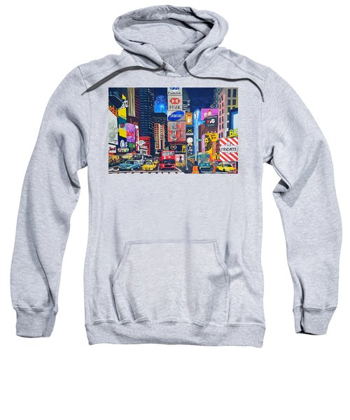 Times Square Sweatshirt by Autumn Leaves Art