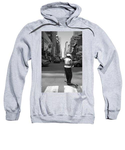 Times Square, New York City  -27854-bw Sweatshirt