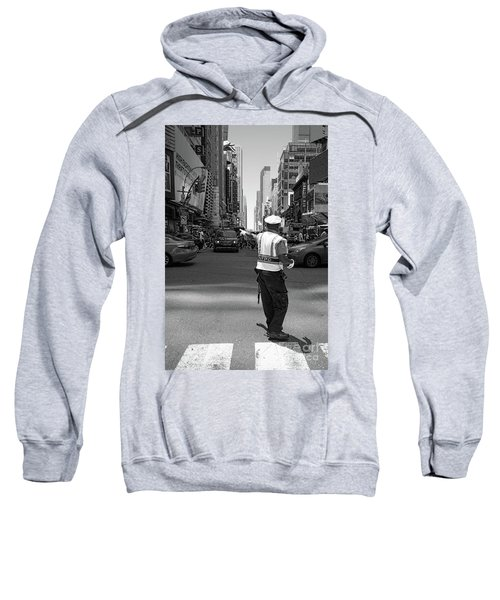 Times Square, New York City  -27854-bw Sweatshirt
