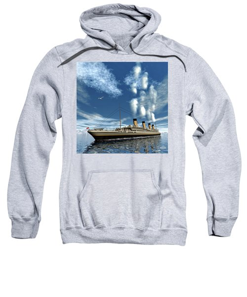 Titanic Ship - 3d Render Sweatshirt