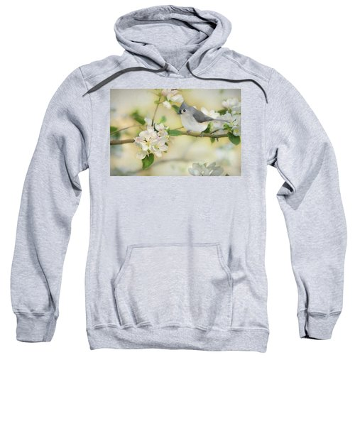 Titmouse In Blossoms 2 Sweatshirt